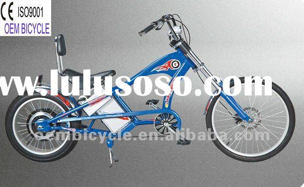 24 inch hot sale favourite blue electric motor chopper bike