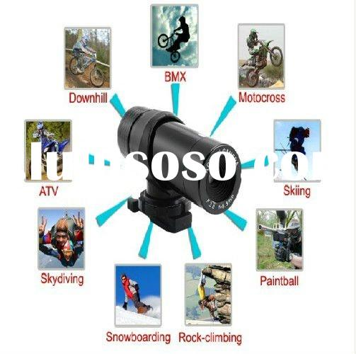 360 degree revolving mounting 80degree waterproof action video camera