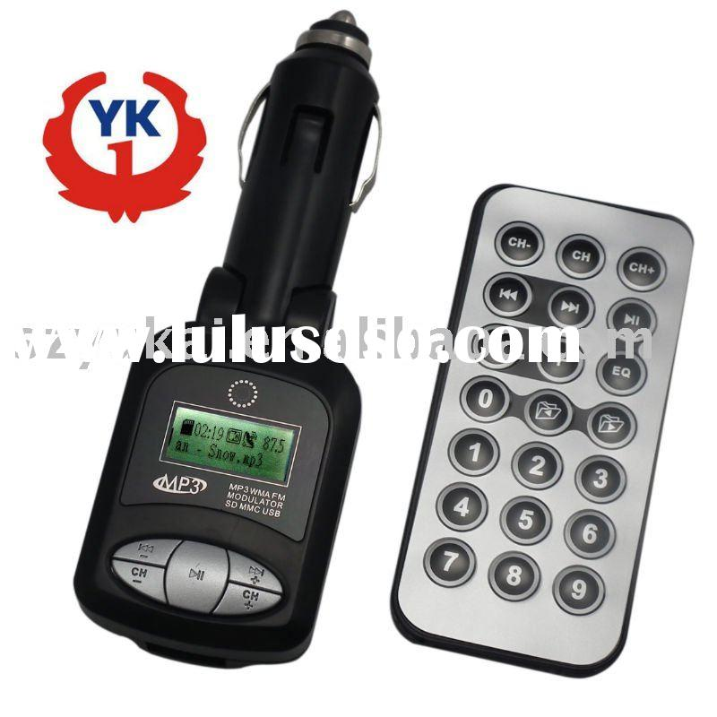 87.5-108.0MHz,with remote control wireless fm transmitter car mp3 player