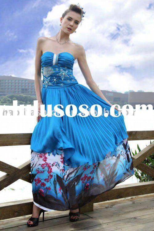 DORIS wholesale fashion strapless ball gown prom dresses 2012 MOQ 1PC