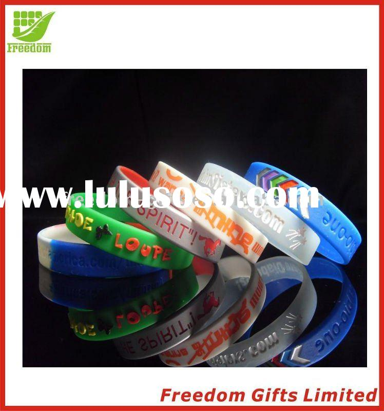 Eco-friendly Material Top Quality Printing Silicone Bracelet / Wristband
