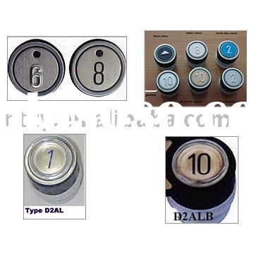 Elevator button, D2 Pushbutton, elevator components, elevator parts
