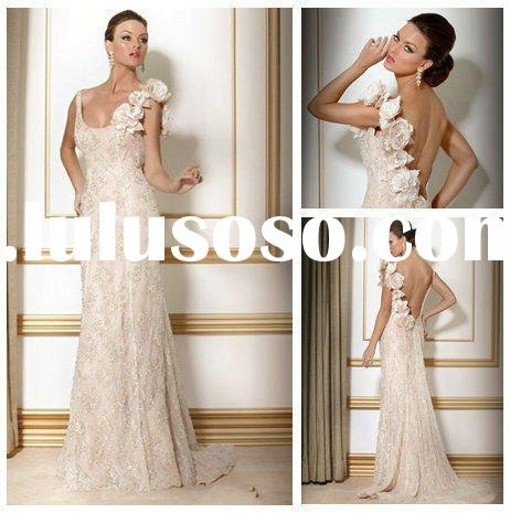 Fashionable Floor Length Evening Long Dresses Lace 2012