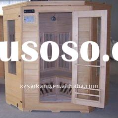 Infrared sauna with pure carbon fiber heater