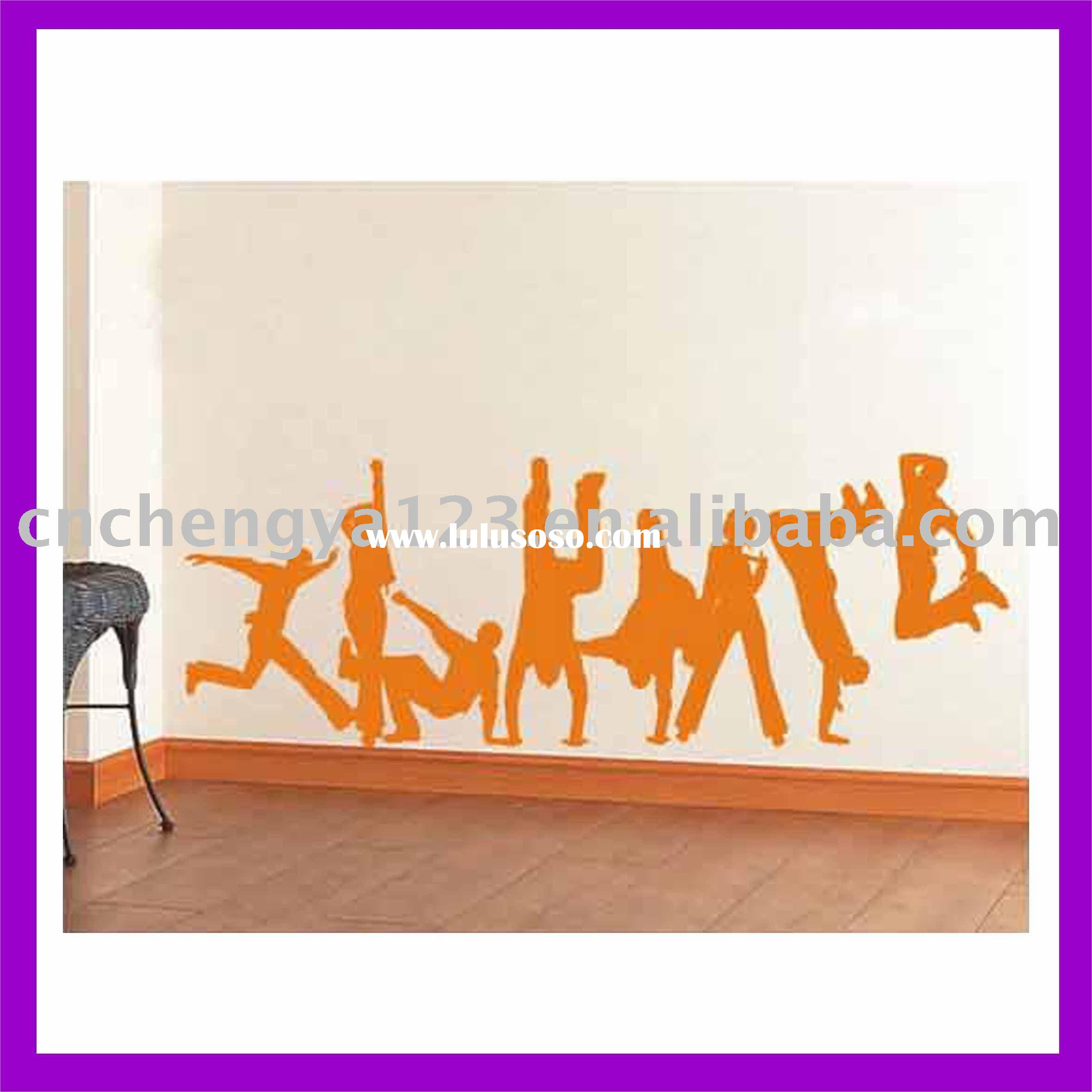 MODERN fashion color printing disco boy and girl wall sticker murals