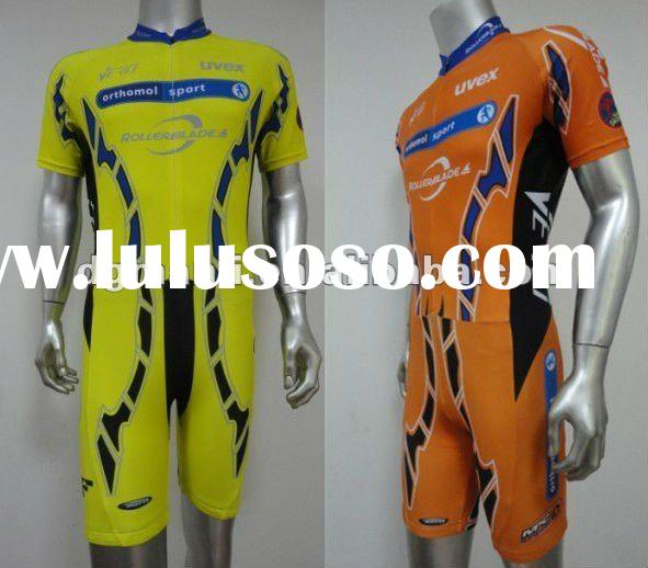 Orange Rollerblade sublimation printing ski wear,speed skating suit,skiwear,crane sports ski wear