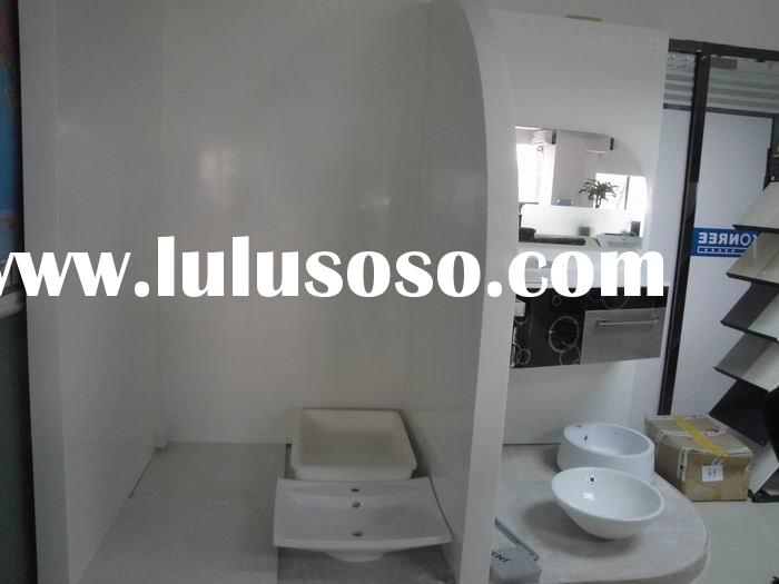 Popular acrylic solid surface bathroom marble shower wall panel