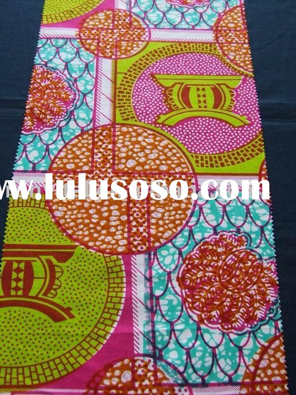 Popular wax fabric/African cotton printed fabric/Real wax fabric(R16005)