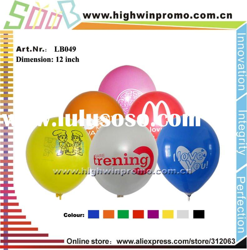 Top selling quality 12inch advertising latex balloon for promotion