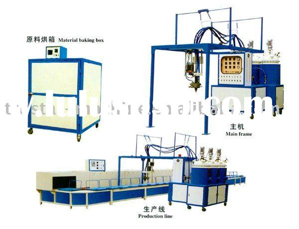 doubel head two color PU shoe sole Pouring Machine