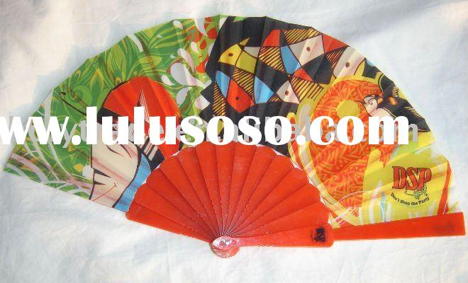 manual hand fan/Advertising plastic fan/Promotional plastic hand fan