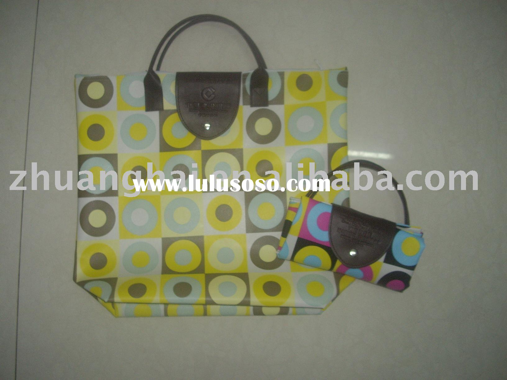 oxford folding shopping bag with zipper
