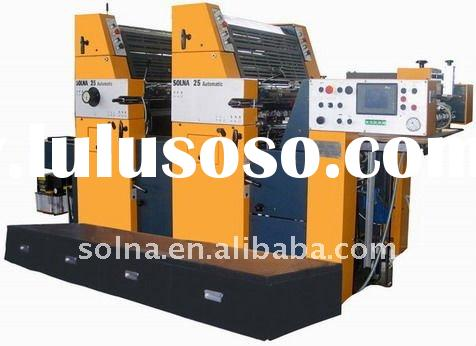 solna 225 automatic two color offset printer for label