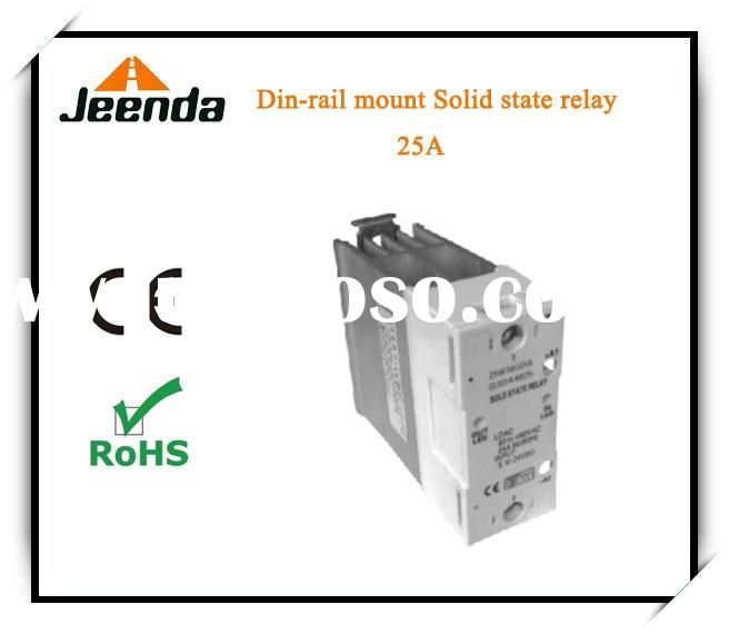 10A to 25A Din rail solid state relay,solid state relay assembly with heatsink.