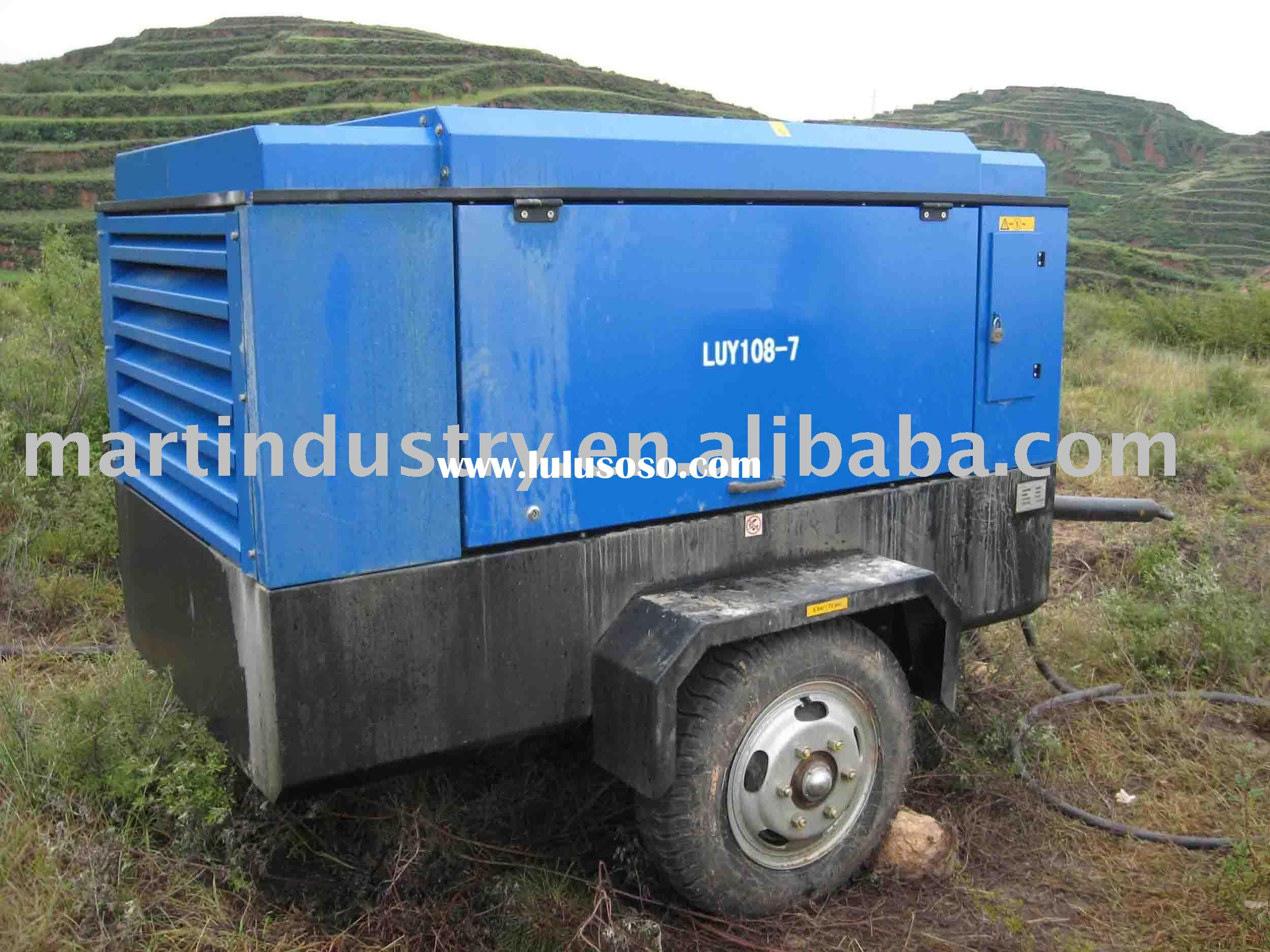 10.8m3/min@7bar portable air compressor(CUMMINS diesel engine)Atlas Copco series
