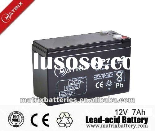 12v 7ah storage dry battery