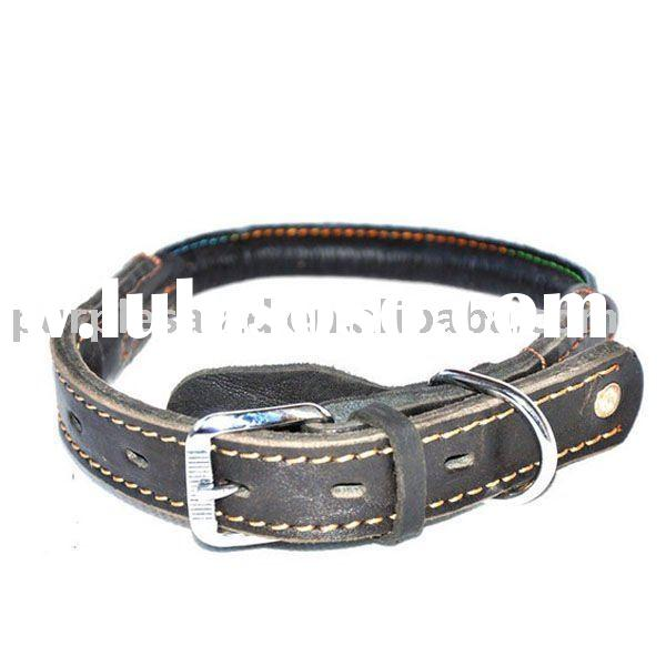 "14""-18"" Fit All Adjustable Buckle Leather Dog Collar"