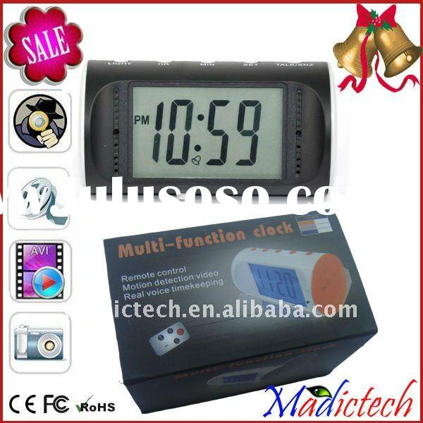 16 channel dvr Remote control alarm clock video espion camera with Motion Detection
