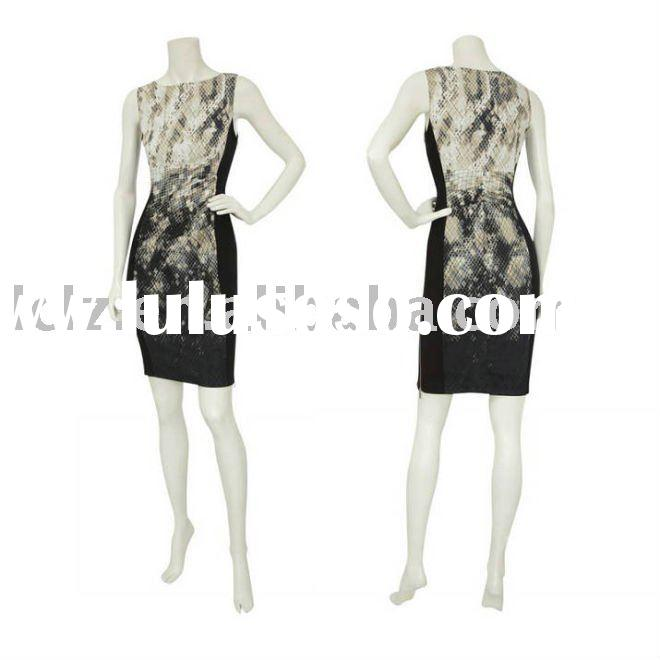 2011 Snake skin women fashion dress Dj077 accept paypal