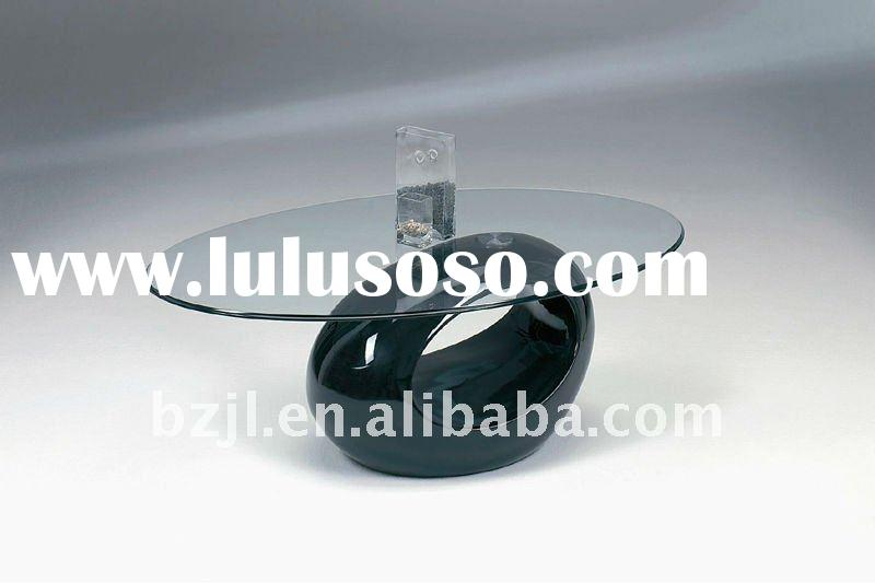 2011 popular high quality modern design glass coffee table