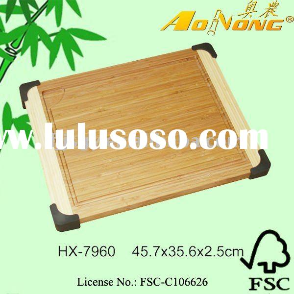 2012 Eco-friendly Bamboo Cutting Board with silicone feet