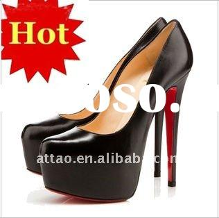 2012 Fashion Black Platform High Heels Women Shoes