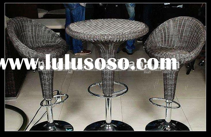 2012 Hot sale Modern outdoor rattan bar table and chairs