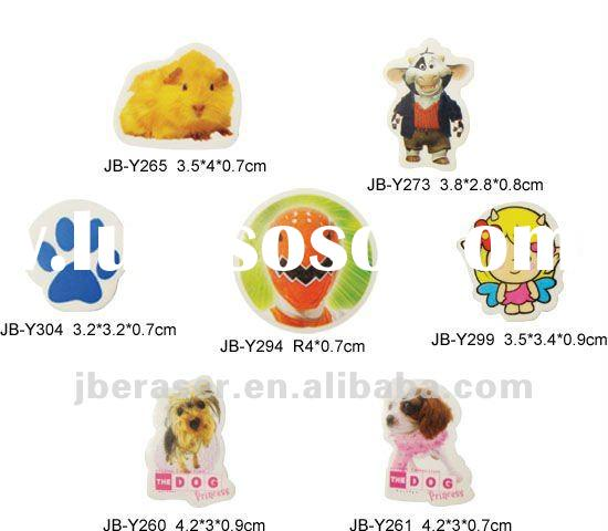 2012 new Stationery animal erasers