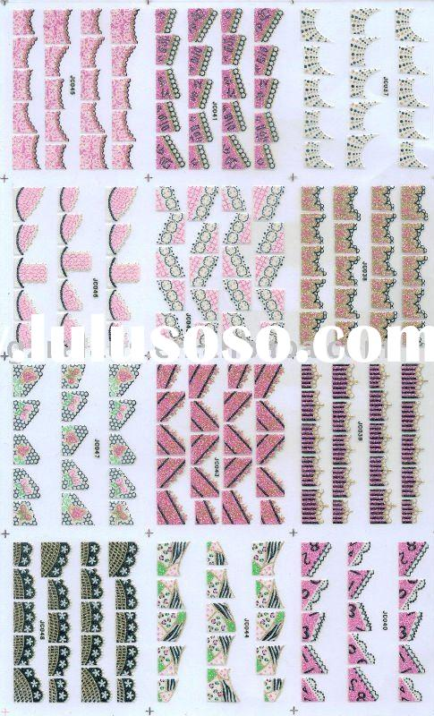 3D French nail sticker for nail art (hundreds and thousands kinds)