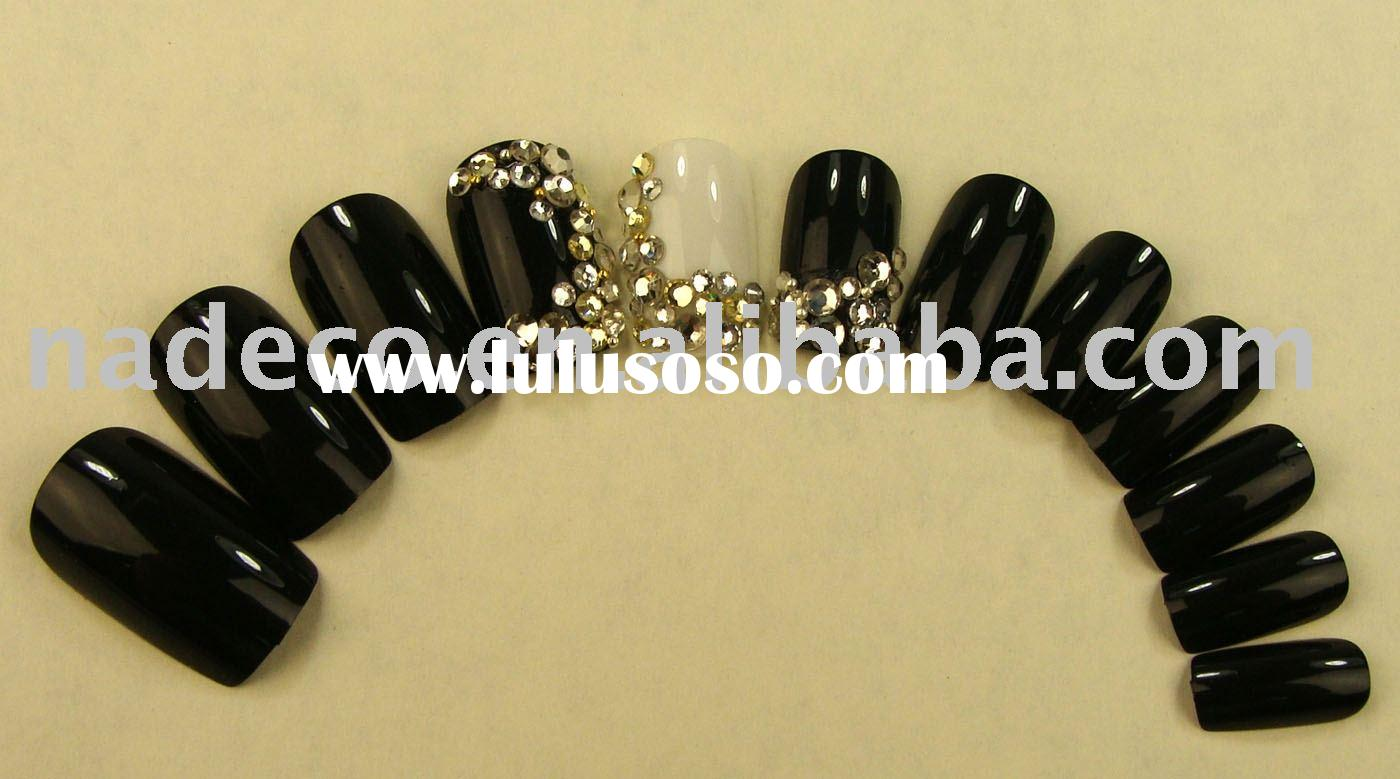 3D art nails, Jewelry nail, French nails, Artificial Nail, airbrush nail, false nail, art nail, nail