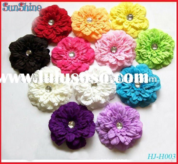 "5"" colorful rhinestone peony flower hair accessories"