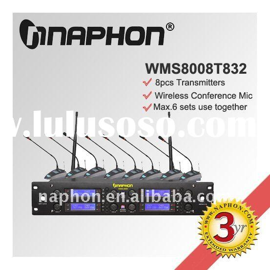 8 In 1 UHF Wireless Desktop Conference Microphone WMS8008T832