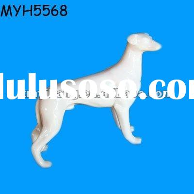 A very beautiful white ceramic greyhound figurine