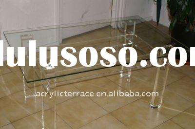 Acrylic Dining Table with Glass Top