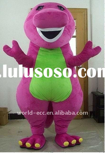 Adult Vivid Barney Cartoon Mascot Costumes for Party