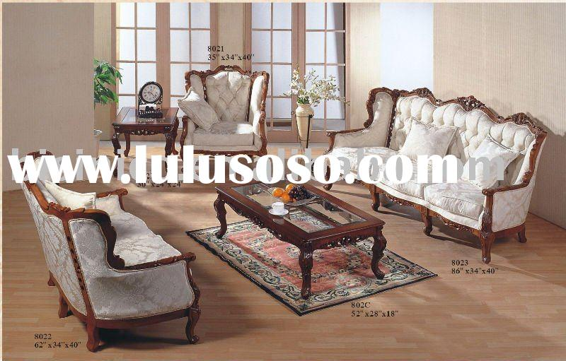 Antique American living room sofa sets,single sofa,love sofa,three seat sofa,coffee table,end table