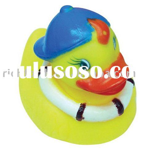 Baby Kids Bath Toy Duck With Swimming Cap and Swimming Ring