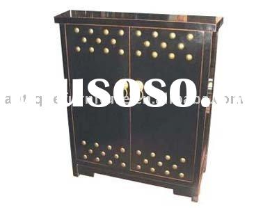 Black lacquered cabinet furniture,Chinese antique reproduction furniture