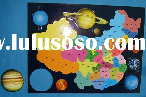 Chinese Map picture for kids play Magnetic puzzles