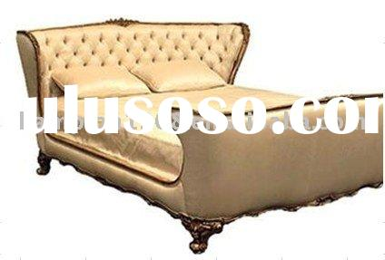 Classic luxaury PU leather bedroom furniture