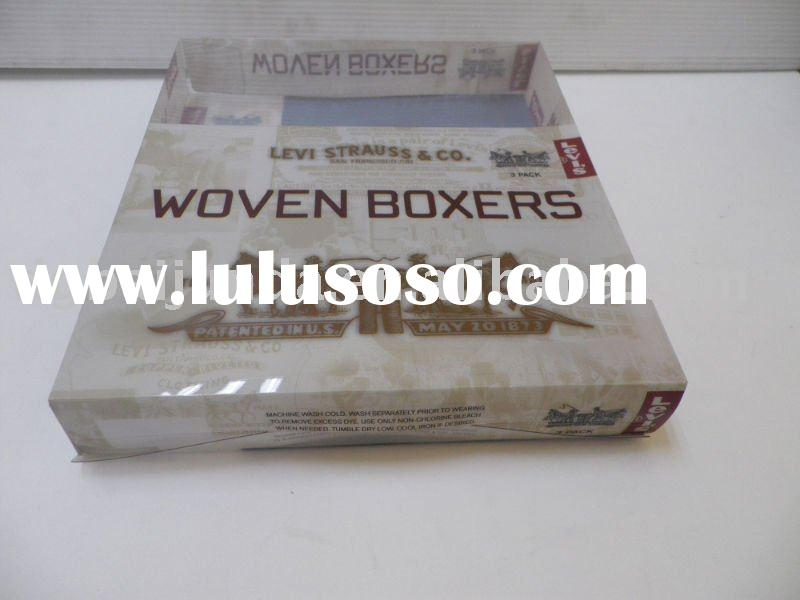 Clear PP plastic box for boxer shorts