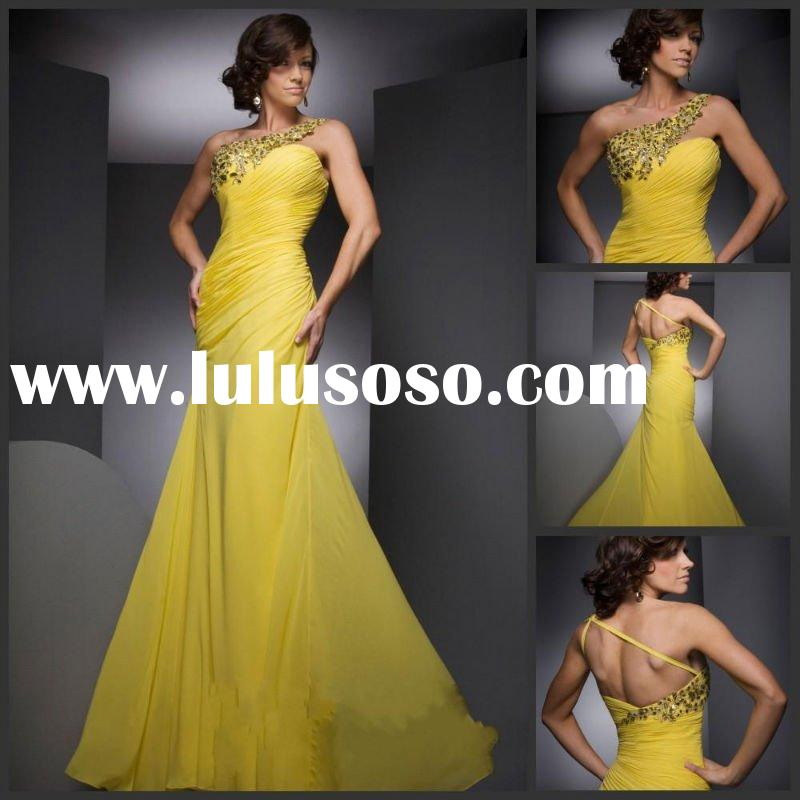 Custom Made 2011 New Arrival Design Organza Sleeveless Free Shipping Prom Dress