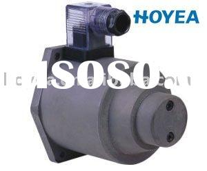 Direct-action proportional solenoid for flow cont