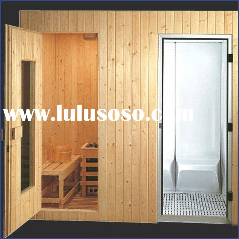 Dry and wet sauna steam room AT-8606,sauna and steam combination room