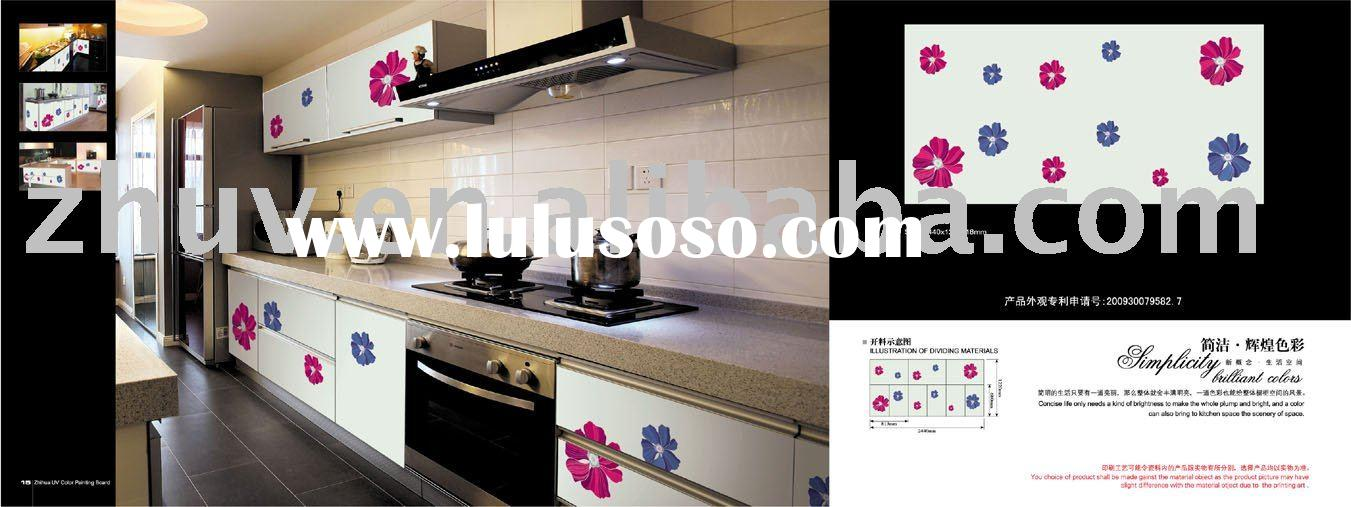 Eco-friendly UV Colored Painting MDF Board(ZH-C849) (for kitchen cabinet door, UV board, decorative