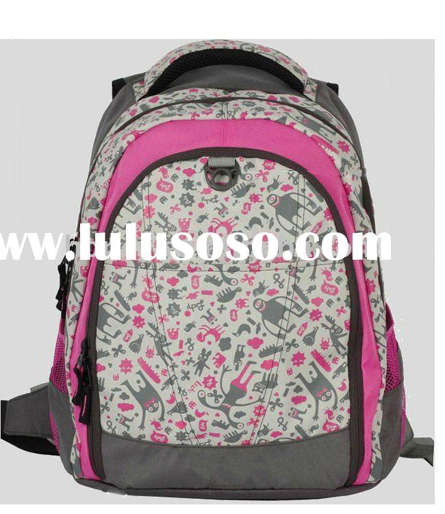 Floral print laptop computer backpack, school bag