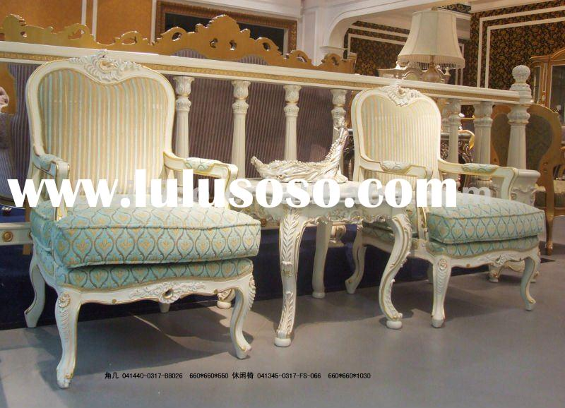French leisure chair and end table set,arm chair,end table,tea table(B50707)