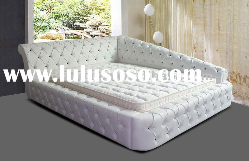 Golden furniture 2011 hot sell item king size button,PU leather bed G819#