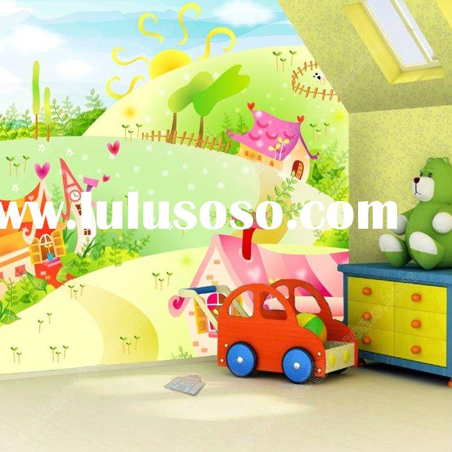 Grass hut on the creative children's room children's bedroom, large living room mura