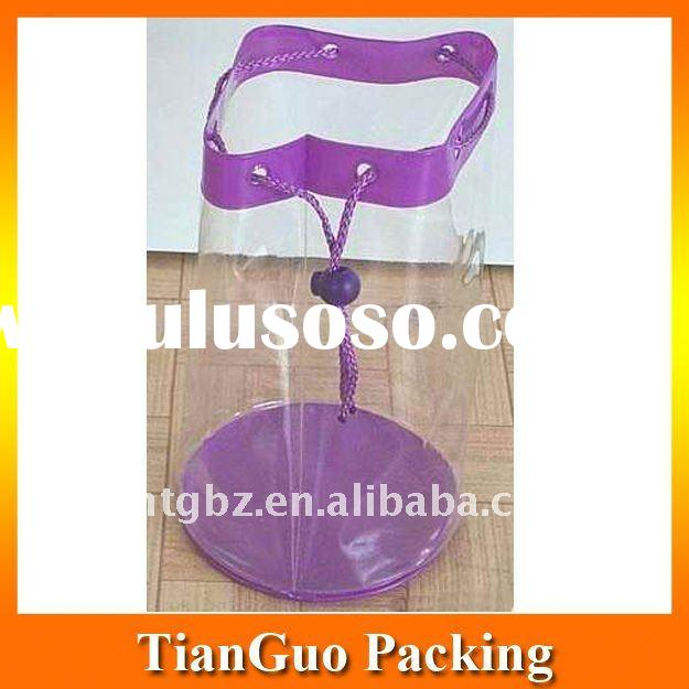 High quality clear PVC Drawstring Bag/Cosmetic Pouch